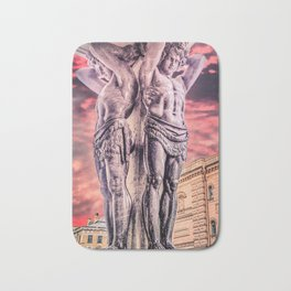 Atlantes of the New Hermitage in Saint-Petersburg Bath Mat
