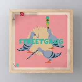 Street Pigeons Framed Mini Art Print