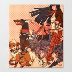PokeDogs Canvas Print