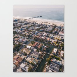 From Above | Venice Canals, Caifornia Canvas Print
