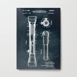 1956 - Telescope rifle sight and lens tube Metal Print