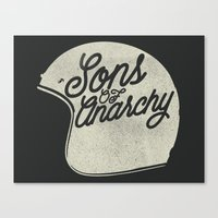 sons of anarchy Canvas Prints featuring Sons of Anarchy by Ryder Doty