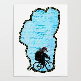 Tahoe Bicycle Bear - Ride Around the Lake Poster