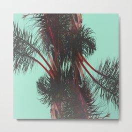 Cyan Chroma Palms Metal Print