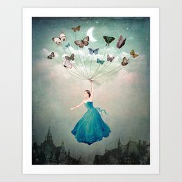 Leaving Wonderland Art Print