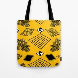 Yellow and Black Diamonds Tote Bag