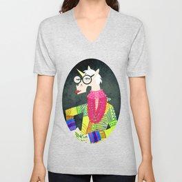 Iris the Unicorn of Fashion Unisex V-Neck