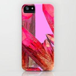 RED & GOLDEN CRYSTALS CONTEMPORAR ART iPhone Case