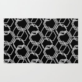 Do All Things with Kindness - A Geometric Text Print Rug