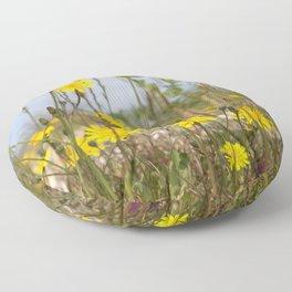 Seaside flora Floor Pillow