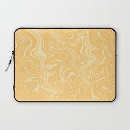Yellow Liquid Marble Laptop Sleeve
