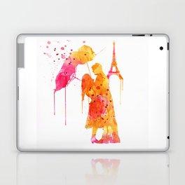 Watercolor Love Couple in Paris Laptop & iPad Skin