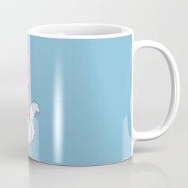 White Cat Wears Squid Hat Coffee Mug
