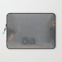 Passing Trams - Clarice Beckett - Australian abstract Realism Laptop Sleeve
