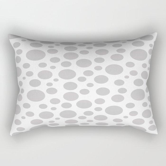Polka Dot Plot: Grey Rectangular Pillow