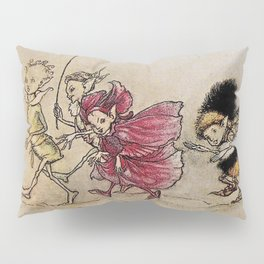 """Elves"" Fairy Art by Arthur Rackham Pillow Sham"