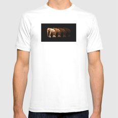 Elephants SMALL White Mens Fitted Tee