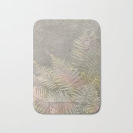 Fossil Rose Gold Fern on Brushed Stone Bath Mat