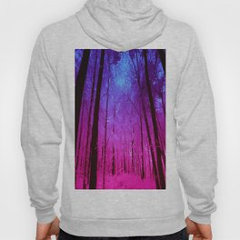Fuchsia Violet Ombre Forest Hoody
