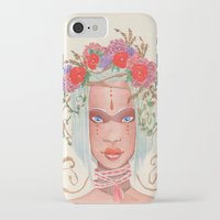 maori iPhone & iPod Cases featuring Maori by Caly