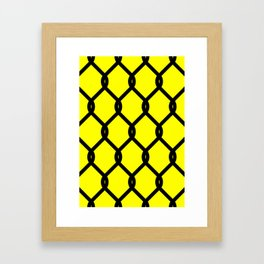 Chain-Link Fence (from Design Machine archives) Framed Art Print