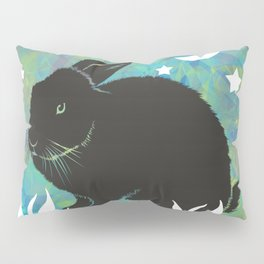 The Black Bunny Pillow Sham