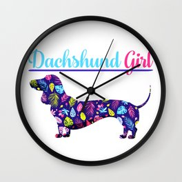 Dachshund Girl Wall Clock