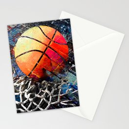 Basketball art print 122 - basketball artwork for bedroom -basketball poster Stationery Cards