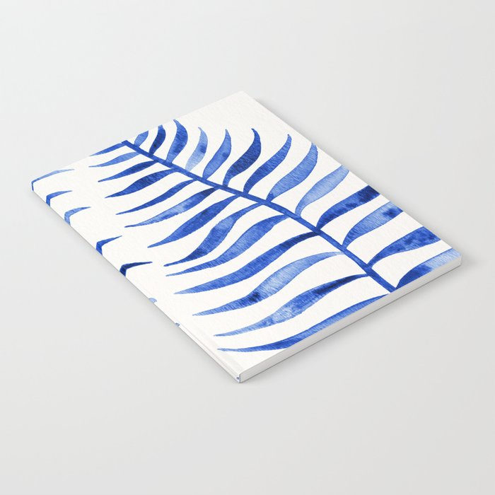 Navy Palm Leaf Notebook