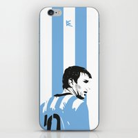 messi iPhone & iPod Skins featuring Messi Argentina by lockerroom51