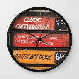 Menu Wall Clock