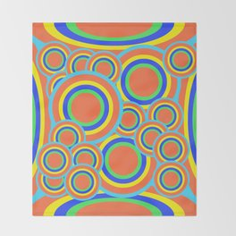 Mod - Colorful Circles Throw Blanket