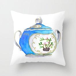 Sugar Bowl Water Color Throw Pillow