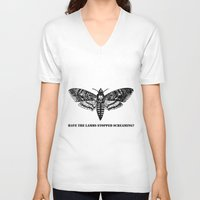 silence of the lambs V-neck T-shirts featuring The lambs by Nightwatcher