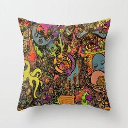 Psychedelic Desert Throw Pillow