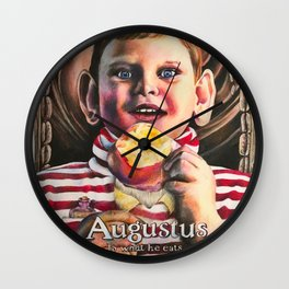 Augustus is what he eats Wall Clock