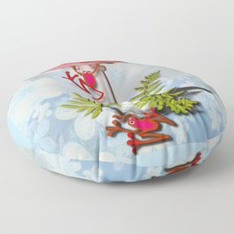 Redfrog And The Magic Mushroom Floor Pillow