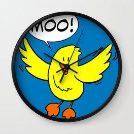 Chick Says Moo Wall Clock