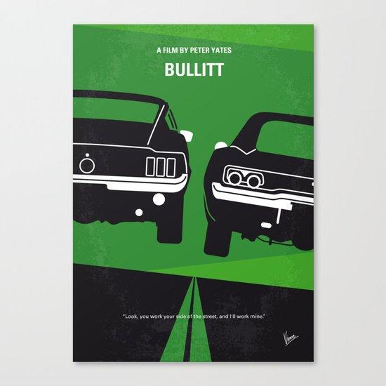 No214 My BULLITT minimal movie poster Canvas Print