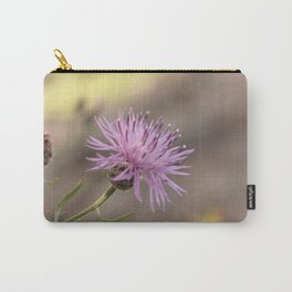 Purple Flowers Vintage on the Beach Carry-All Pouch