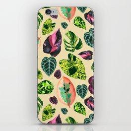 People's Plants Pattern iPhone Skin
