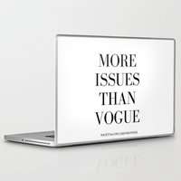 vogue Laptop & iPad Skins featuring #VOGUE by YUNG-GOD