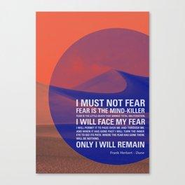 Litany Against Fear Canvas Print