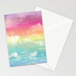 Clouds in a Rainbow Unicorn Sky Stationery Cards