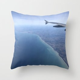 Flying over Normandy Throw Pillow