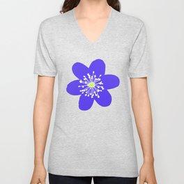 Flower Anemone Hepatica Unisex V-Neck