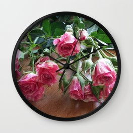ROSES ARE LOVE Wall Clock
