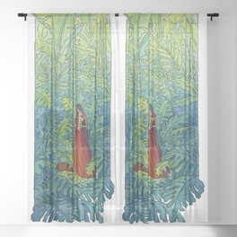 Book of Secrets Sheer Curtain