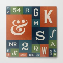 A Celebration of Typographic Form Metal Print