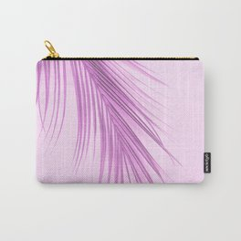 Pink Palm Leaf On A Pink Background #decor #society6 #buyart Carry-All Pouch